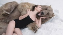Russian Models Strip Down in the Snow to Save the Brown Bear